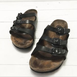 BIRKENSTOCK Florida black leather sandal 8